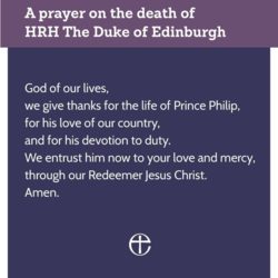 A prayer for HRH The Duke of Edinburgh